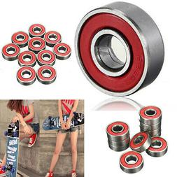 10Pcs/Set Skateboard Longboard Roller Skate Wheels Scooter S