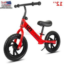 """12"""" Kids Balance Bike No Pedal Bicycle Ride Scooter Toys Chi"""