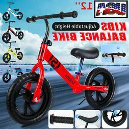 "12"" Kids Children Balance Bike No Pedal Bicycle Ride Scooter"