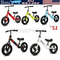 12'' Kids Children Balance Bike Toys No Pedal Bicycle Ride S
