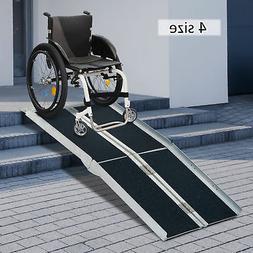 2/4/6/8/10ft Folding Aluminum Wheelchair Ramp  Portable Mobi