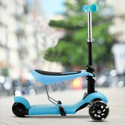 2-in-1 Kick Scooter with Removable Seat Great for Kids & Tod