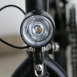 2 In 1 LED Front Lamp Head Light W/ Horn Black for Scooter E