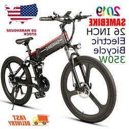 samebike 26'' Folding Electric Bike Conjoined Rim Scooter 48