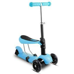 Adjustable Scooter Kick Push Toddler Baby Walker Balance Tri
