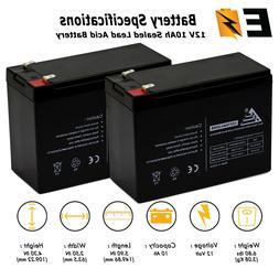 2pk_12v 10ah Battery for Schwinn S500 FS S-500 FS Scooter re