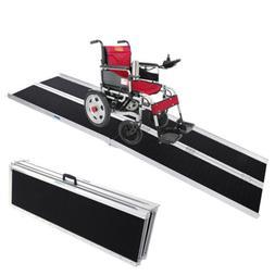 3/4/6/8ft Folding Aluminum Wheelchair Ramp Portable Mobility