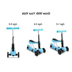 Kids 3-wheel Kick Scooter With Light Up Wheels Gifts For 2+