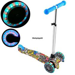 Kick Scooter for Kids Deluxe 3 Wheels Glider with LED Light