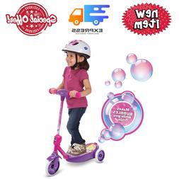 3-Wheel Ride-On Toys Bubble Scooter Non-Slip Deck Outdoor Fu