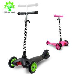 3 Wheels Kick Scooter Deluxe Adjustable Height Glider For Ki