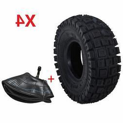 4 PCS 3.00-4 TIRE KNOBBY TREAD OFF-ROAD SCOOTER MINI ATV GO