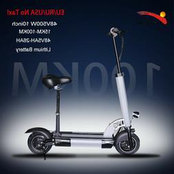 """48V 500Watts 10"""" Electric Scooter for Adults with 100KM 26Ah"""