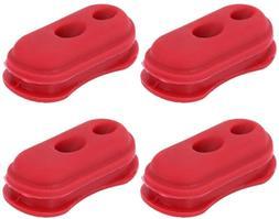 Delaman 4pcs Rubber Case Cover Repair Spare Parts Accessorie