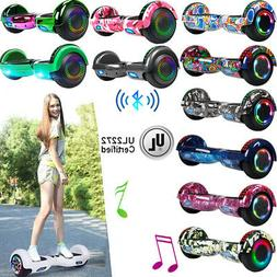 """Bluetooth Hoverboard LED Hoover Board NHT 6.5"""" Self Swagtron"""