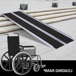 6' Aluminum Handicap Ramp Folding Wheelchair Scooter Mobilit