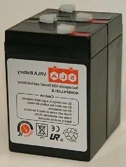 6 Volt 4.5A Battery APC UPS Alarm Scooter Bike 2-Pack 6V 4.5