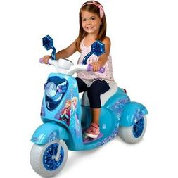 6V Disney Frozen 3-Wheel Scooter Ride On Toy Outdoor Toddler