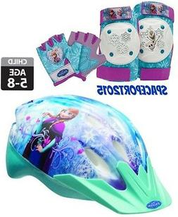 7pc FROZEN Anna+Elsa BIKE HELMET+GLOVES+ELBOW+KNEE PADS SET