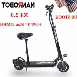 90% New NANROBOT X4 2.0 Adult Electric Scooter With Seat 48V