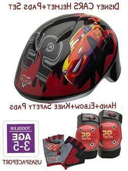 Disney CARS BIKE HELMET+Safety GLOVES+ELBOW+KNEE PAD SET Sco