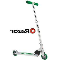 Razor A Kick Scooter For Kids Green Easy Folding Aluminum Ad