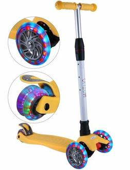 Adjustable Height Outon Kick Scooter  3 Light Up Wheels for