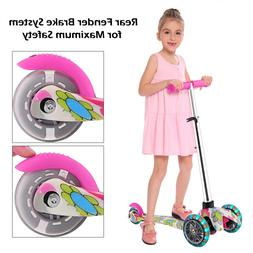 Kids Scooter Deluxe  Adjustable Kick Scooters Girls Boys 3LE
