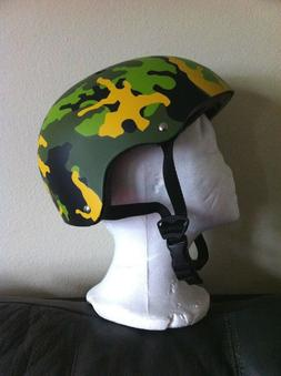 BICYCLE HELMET GREEN CAMOFLAGE SKATEBOARD SCOOTER PROTECTIVE