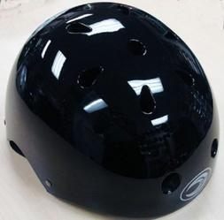 BLACK Kids Bicycle Helmet S/M/L Cycling Skateboard Scooter P