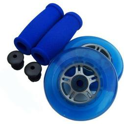 BLUE Replacement Razor Scooter WHEELS, ABEC 7 BEARINGS, BLUE