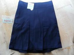 CAT & JACK girls pleated navy blue uniform skort scooter ski