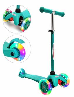 ChromeWheels Scooter for Kids, Deluxe 3 Wheel Scooter for To