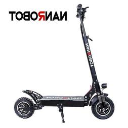 """NANROBOT D4+ Upgraded Version Electric Scooter 10"""" Dual Driv"""