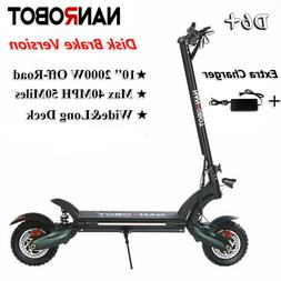 NANROBOT D6+ Electric Scooter 2000W Adult Max Speed 40MPH 50