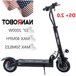 "NANROBOT D5+ 2.0 Electric Scooter 2000W 10"" Max Speed 40MPH"