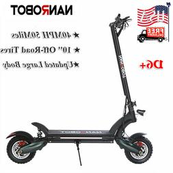"""NANROBOT D6+ Electric Scooter 2000W Adult 10"""" Max speed 40"""