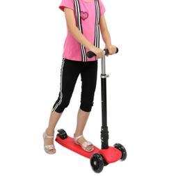 Deluxe 3 Wheel Scooter w/ 4 Adjustable Height Glider For Kid