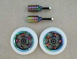 DropIn Scooters DIS 100mm Soft Landing Wheels and Rainbow Me