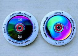 DIS 110mm Hollow Slicks - 2 Scooter wheels with ABEC-11 Bear