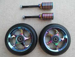 DIS 110mm Oil Slicks Package - 2 Wheels and 2 Pegs