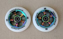 DIS 100mm Oil Slicks Metal Core Wheels 5-Spoke  - Rainbow Me