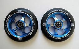 DIS 110mm Metal core Park Wheels 5-Spoke - Blue