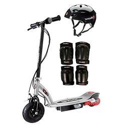 Razor E125 Motorized 24-Volt Scooter, Black + Youth Helmet +