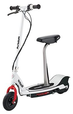 Razor E200S Seated Electric Scooter, White/Red