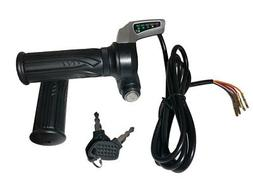 eBike / Electric Scooter Throttle w/ Key Switch & Battery Le
