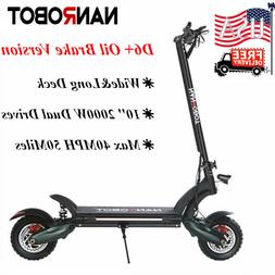 NANROBOT D6+ ELECTRIC SCOOTER 2000W Adult Max 40MPH 50Miles