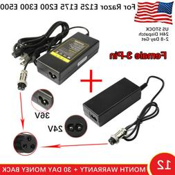 24V 36V Electric Scooter Charger Adapter for Razor E100 E200