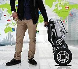 FOLD AND TRAVEL Electric Wheelchair Power Wheel chair Lightw
