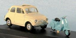 VITESSE Fiat 500  With Vespa Scooter 1/43 Scale Diecast Mode